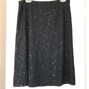 Michael Kors Dressy A line Skirt Sequins Black